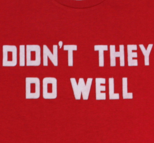 【Worn Free】 David Gilmour / Didn't They Do Well Tee (Red)