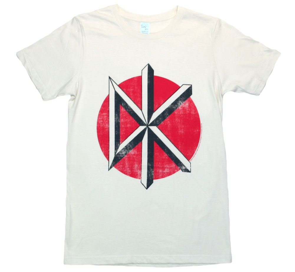 Dead Kennedys / Distressed Logo Tee (Vintage White)