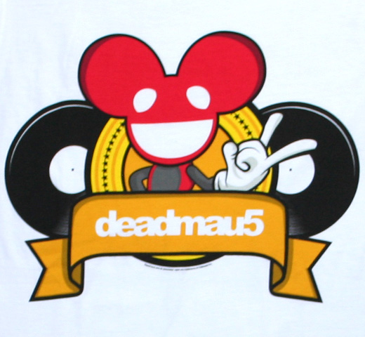 deadmau5 / Cartoon Logo Tee (White)