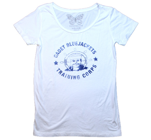 【Worn Free】 Debbie Harry / Cadet Bluejackets Scoop Neck Tee (White) (Womens)