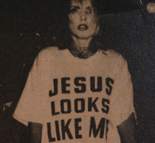【Worn Free】 Debbie Harry / Jesus Looks Like Me Tee (Vintage White)