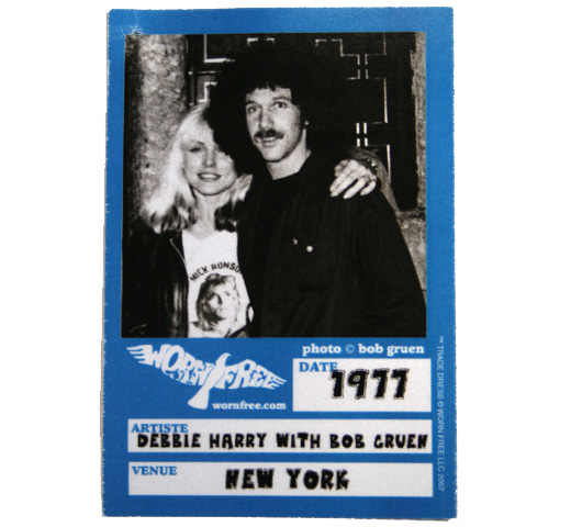 【Worn Free】 Debbie Harry with Bob Gruen / Mick Ronson tee (Light Yellow)