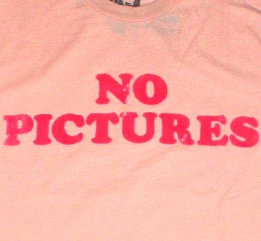 【Worn Free】 Debbie Harry / No Pictures Tee (Pink)