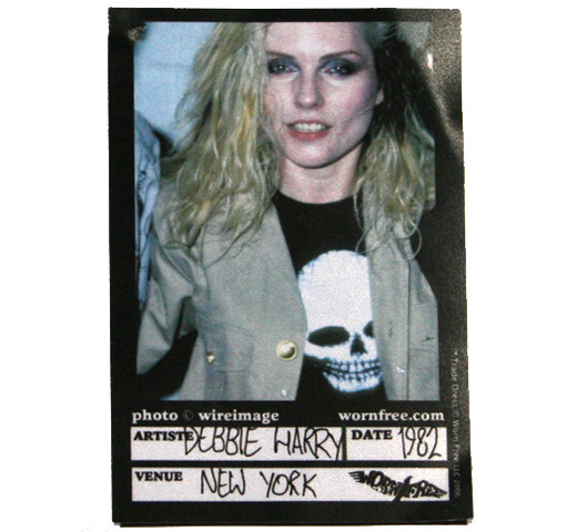 【Worn Free】 Debbie Harry / Skull Tee