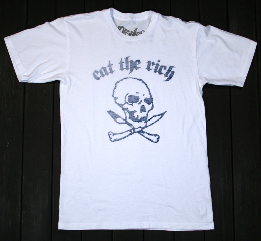 【Worn Free】 Dee Dee Ramone / Eat the Rich Tee (White)