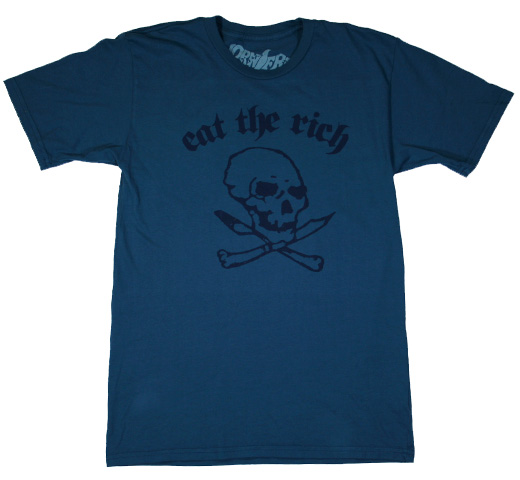 【Worn Free】 Dee Dee Ramone / Eat the Rich Tee (Royal)