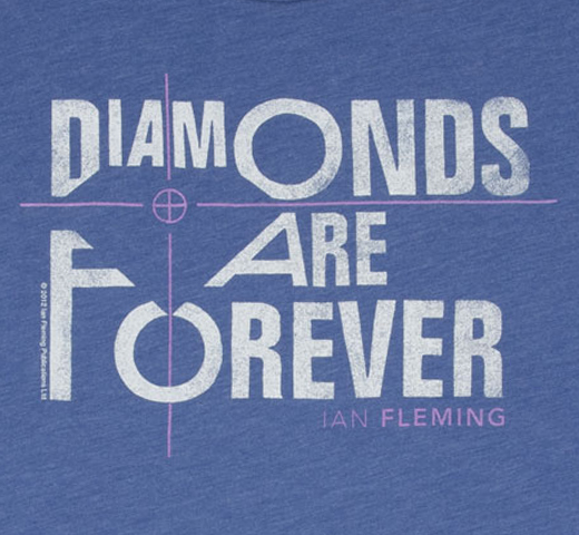[Out of Print] Ian Fleming / Diamonds Are Forever Tee (Vintage Royal)