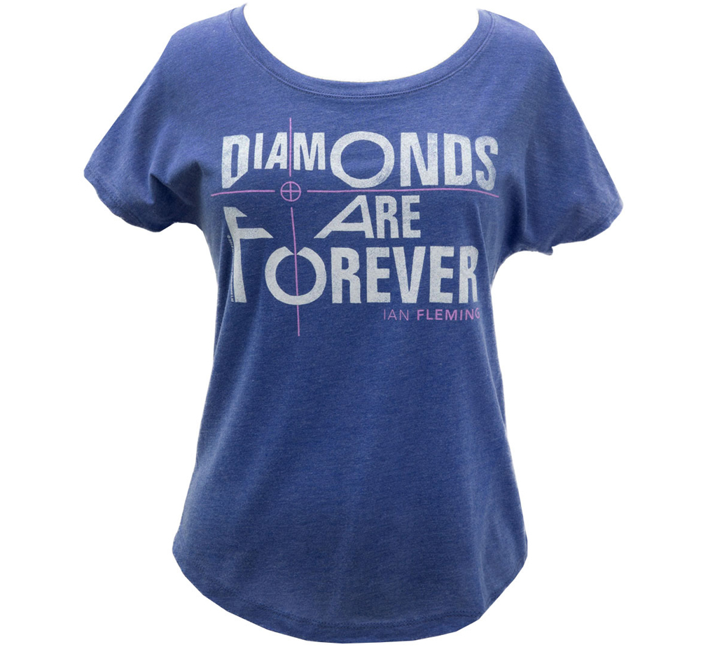 [Out of Print] Ian Fleming / Diamonds Are Forever Relaxed Fit Tee (Vintage Royal) (Womens)