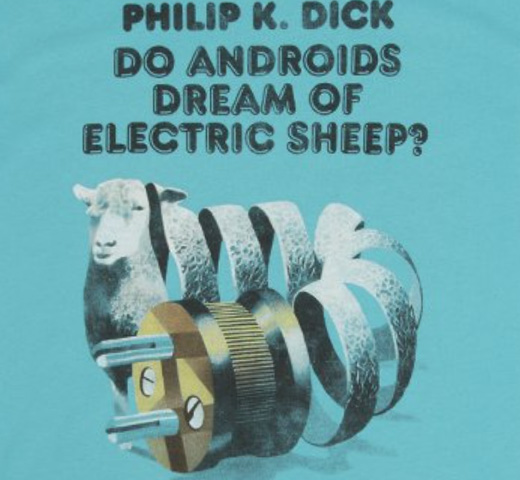 【Out of Print】 Philip K. Dick / Do Androids Dream of Electric Sheep? Tee (Tahiti Blue)