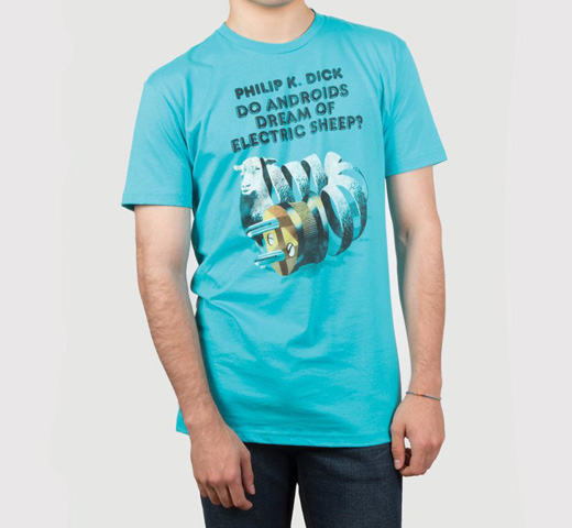 [Out of Print] Philip K. Dick / Do Androids Dream of Electric Sheep? Tee (Tahiti Blue)
