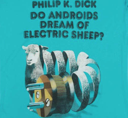 【Out of Print】 Philip K. Dick / Do Androids Dream of Electric Sheep? Scoop Neck Tee (Tahiti Blue) (Womens)