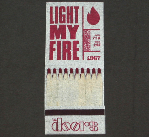 The Doors / Light My Fire Tee (Charcoal)
