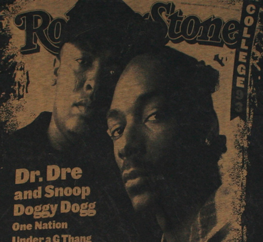 【Rolling Stone】 Dr. Dre & Snoop Doggy Dogg / Issue 666 Tee (Black)