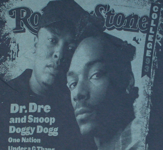 【Rolling Stone】 Dr. Dre & Snoop Doggy Dogg / Issue 666 Tee (Overcast)