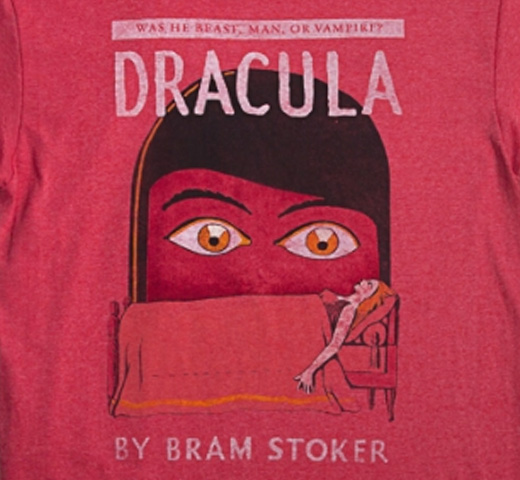 【Out of Print】 Bram Stoker / Dracula Tee (Red) (Womens)