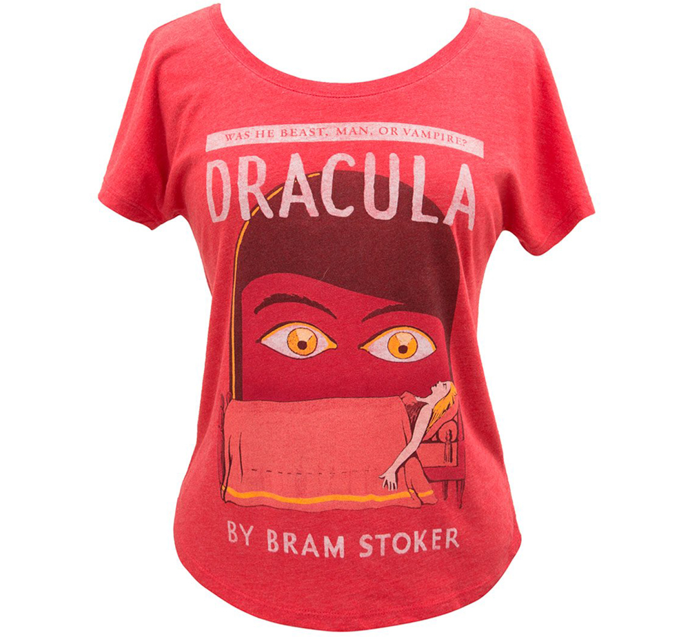 [Out of Print] Bram Stoker / Dracula Womens Relaxed Fit Tee (Red)
