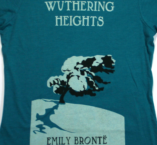 【Out of Print】 Emily Brontë / Wuthering Heights Tee (Teal) (Womens)