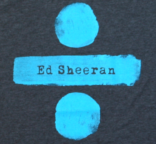Ed Sheeran / ÷ (DIVIDE) Tee (Charcoal)