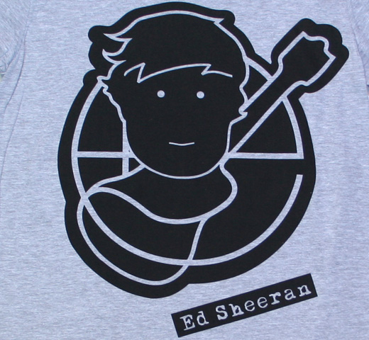 Ed Sheeran / Pictogram Tee (grey)