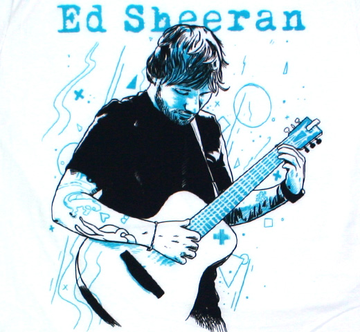 Ed Sheeran / Portrait Tee (White)