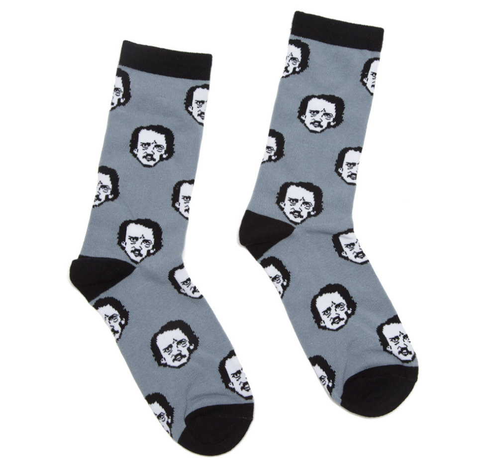 【Out of Print】 Edgar Allan Poe / Poe-ka Dots Socks