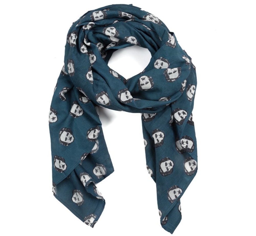 【Out of Print】 Edger Allan Poe / Poe-Ka Dots Lightweight Scarf