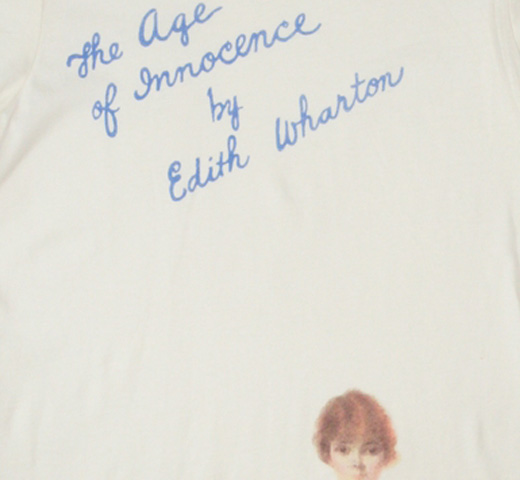【Out of Print】 Edith Wharton / The Age of Innocence Tee (Ivory) (Womens)