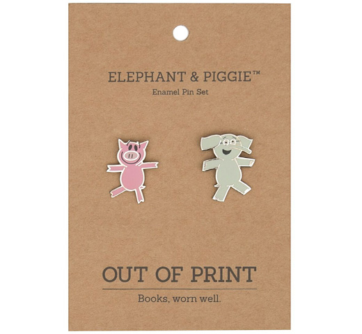 [Out of Print] Mo Willems / Elephant & Piggie Enamel Pin Set