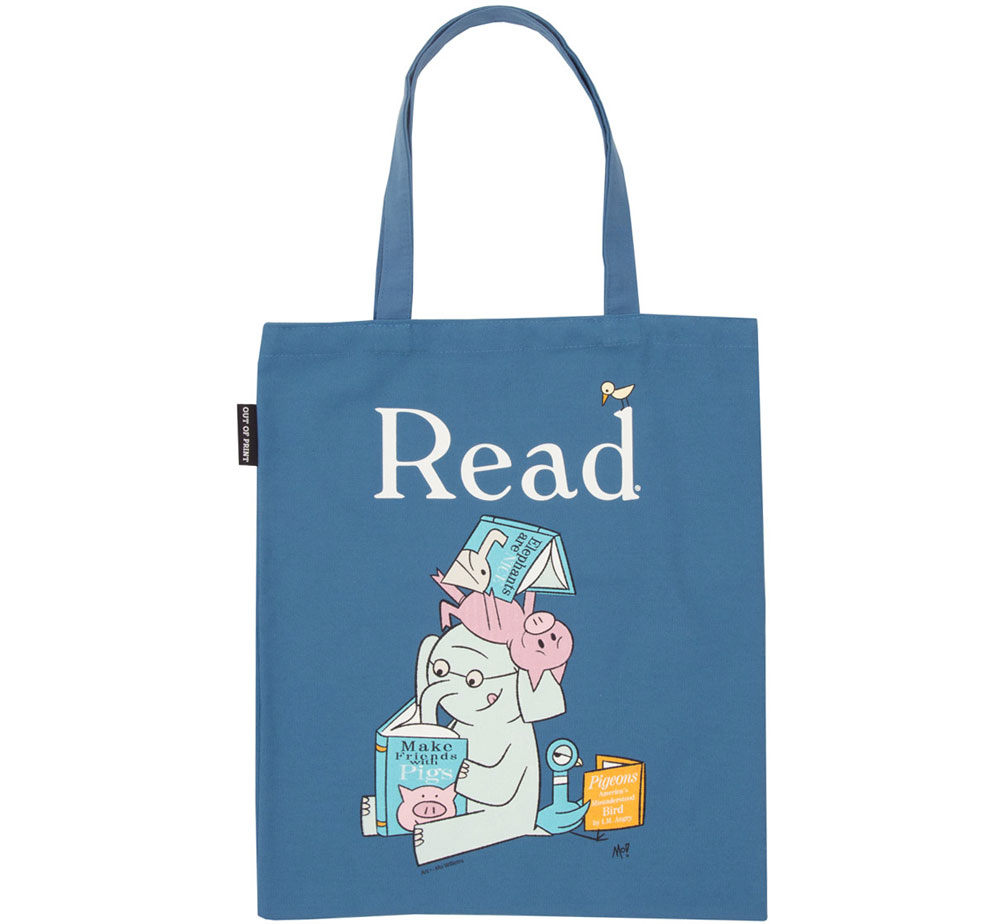 [Out of Print] Mo Willems / Read with Elephant & Piggie, and The Pigeon Tote Bag