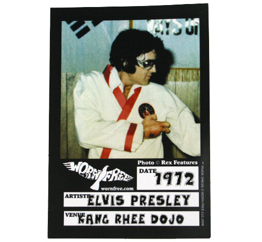 【Worn Free】 Elvis Presley / TCB Karate Tee (Heather Grey)