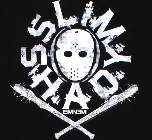 Eminem / Slim Shady Mask Tee (Black)
