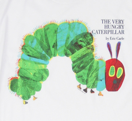 【Out of Print】 Eric Carle / The Very Hungry Caterpillar Tee (White) (Womens)