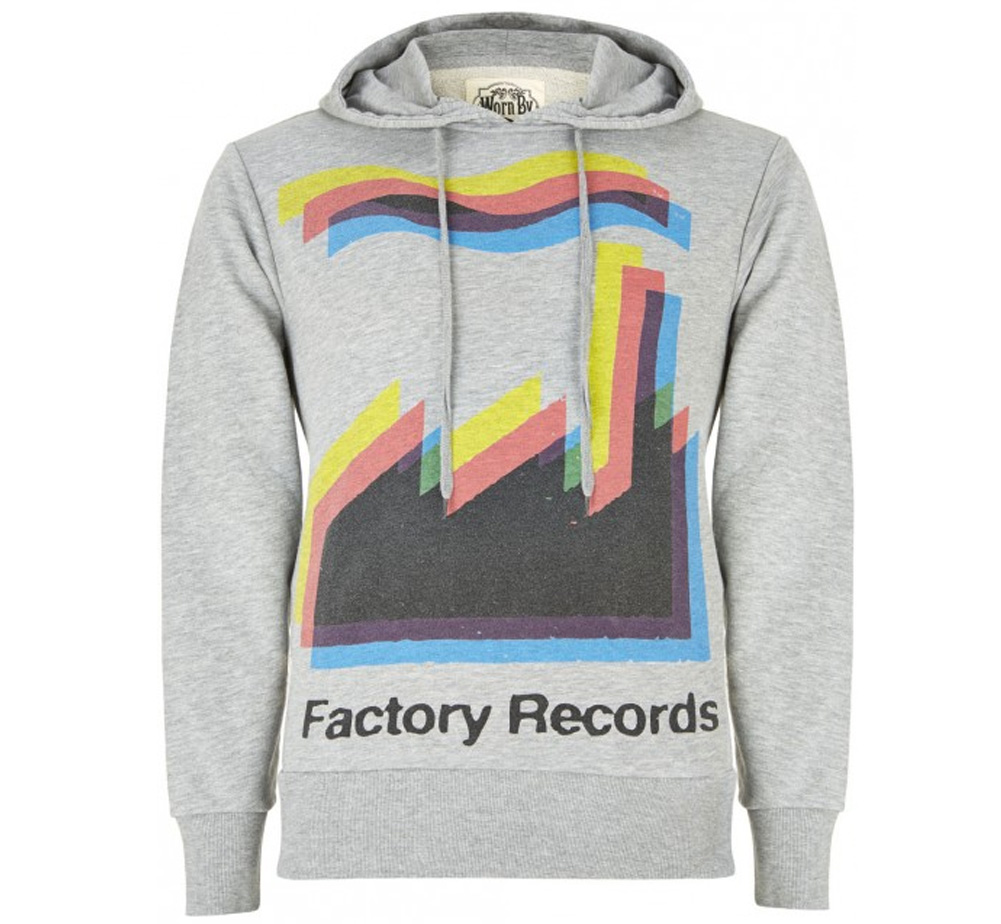 【Worn By】 Factory Records / CMYK Hood (Grey Marl)