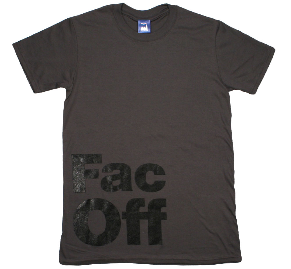Factory Records / Fac Off Tee (Charcoal Grey)