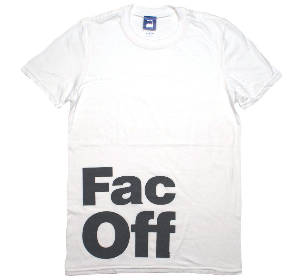 Factory Records / Fac Off Tee (White)