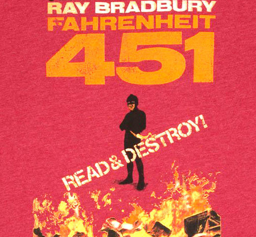 [Out of Print] Ray Bradbury / Fahrenheit 451 Tee 2 (Red)