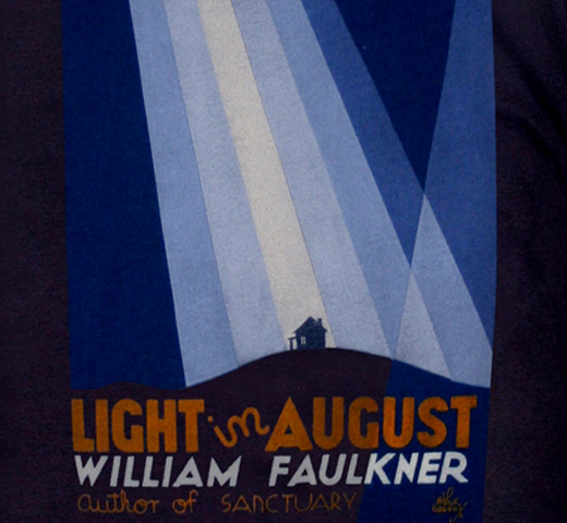 【Out of Print】 William Faulkner / Light in August Tee (Navy)
