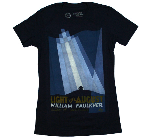 【Out of Print】 William Faulkner / Light in August Tee (Navy) (Womens)