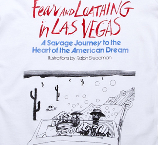[Out of Print] Hunter S. Thompson / Fear and Loathing in Las Vegas Tee (White) (Womens)