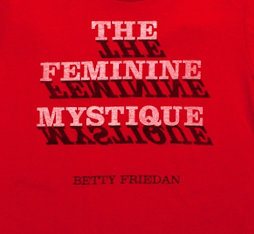 【Out of Print】 Betty Friedan / The Feminine Mystique Tee (red) (Womens)