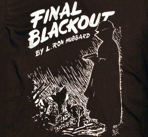 【Out of Print】 L. Ron Hubbard / Final Blackout Tee (Black)