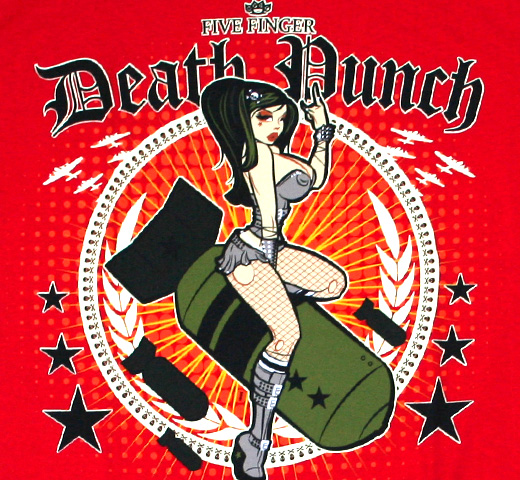 Five Finger Death Punch / Bomber Girl Tee (Red)