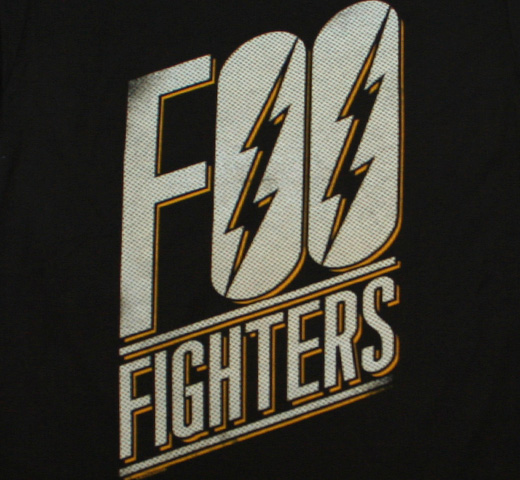Foo Fighters / Slanted Logo Tee (Black)