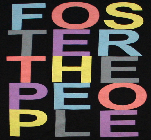 Foster the People / Stacked Logo Tee (Black)