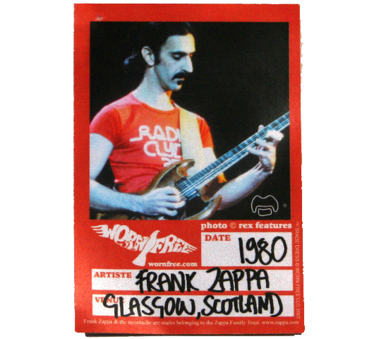 【Worn Free】 Frank Zappa / Radio Clyde V-Neck Tee (Washed Blue) (Womens)
