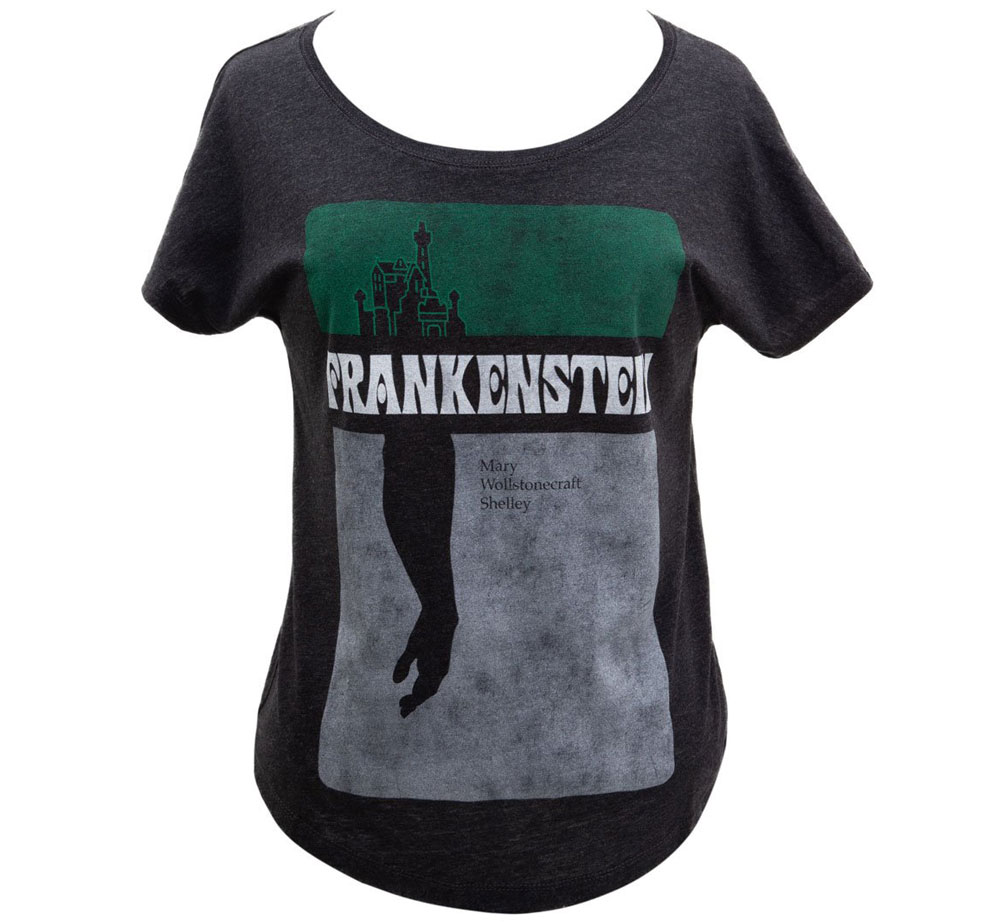 [Out of Print] Mary Wollstonecraft Shelley / Frankenstein Relaxed Fit Tee (Black) (Womens)