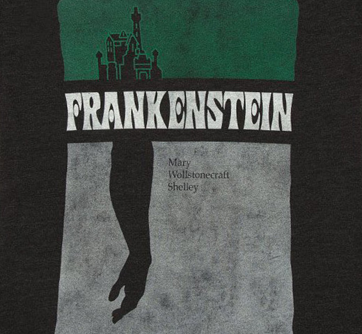 [Out of Print] Mary Wollstonecraft Shelley / Frankenstein Scoop Neck Tee (Black) (Womens)