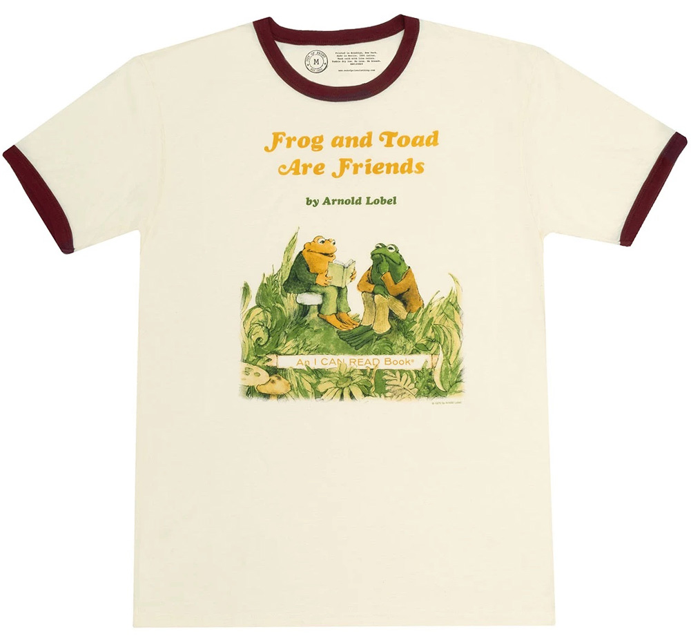 [Out of Print] Arnold Lobel / Frog and Toad are Friends Ringer Tee (Natural)