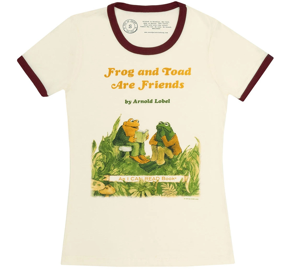 [Out of Print] Arnold Lobel / Frog and Toad are Friends Womens Ringer Tee (Natural)
