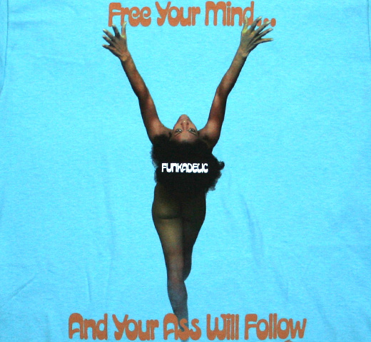 Funkadelic / Free Your Mind Tee (Sax Blue)